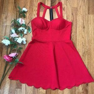 Material Girl Dress Juniors Textured Scallop Hem